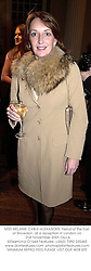 MISS MELANIE CABLE-ALEXANDER, friend of the Earl of Snowdon, at a reception in London on 21st November 2001.	OUJ 6