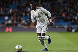 January 24, 2019 - Madrid, Spain - Real Madrid's Vinicius Jr. during Copa del Rey match between Real Madrid and Girona FC at Santiago Bernabeu Stadium. (Credit Image: © Legan P. Mace/SOPA Images via ZUMA Wire)