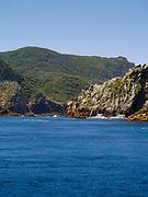 View of Poor Knights Islands, summer, Northland, New Zealand