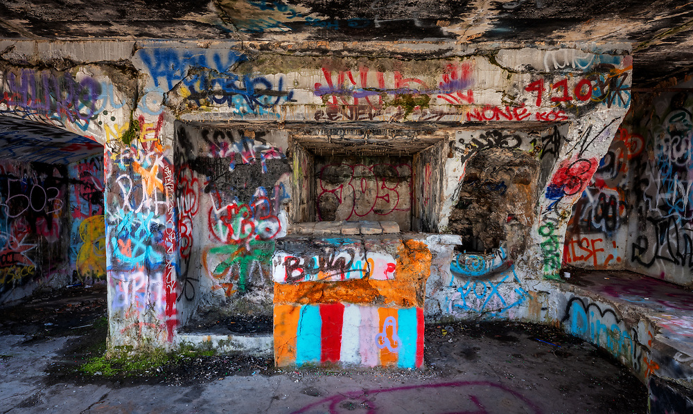 A bunker at Fort Armistead in Baltimore, Maryland.