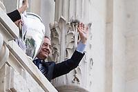 Florentino Perez during the Real Madrid CF reception at Madrid city hall after winning the Champions League May 29,2016. (ALTERPHOTOS/Rodrigo Jimenez)