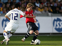 Fotball , 1. juni 2006 , Privatkamp , Norge - Sør-Korea ,<br /> Fredrik Strømstad , Norge mot Young-Pyo Lee , Korea <br /> Norway - Korea Republic