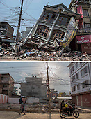 Combination earthquake pictures Then and Now