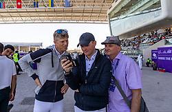 KUEHNER Max (AUT), TEBBEL Maurice (GER)<br /> Doha - CHI Al SHAQAB 2020<br /> Impression am Rande<br /> 29. Februar 2020<br /> © www.sportfotos-lafrentz.de/Stefan Lafrentz