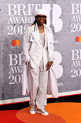 February 21, 2019 - London, London, United Kingdom - Image licensed to i-Images Picture Agency. 20/02/2019. London, United Kingdom. Nile Rodgers at the Brit Awards in London. (Credit Image: © i-Images via ZUMA Press)
