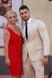 July 22, 2019 - Los Angeles, CA, USA - LOS ANGELES - JUL 22:  Britney Spears, Sam Asghari at the ''Once Upon a Time in Hollywood'' Premiere at the TCL Chinese Theater IMAX on July 22, 2019 in Los Angeles, CA (Credit Image: © Kay Blake/ZUMA Wire)
