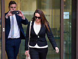 © Licensed to London News Pictures. 14/10/2015. London, UK. CAROLINE WESTLAKE leaving Westminster magistrates court after being sentenced to 80 hours community  service for attacking former work colleague Kate Sanders over a relationship with a third zoo worker, llama keeper Adam Davies. Photo credit: Ben Cawthra/LNP