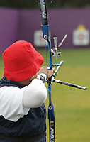 Paralympics London 2012 - ParalympicsGB - Archery Mens Individual Recurve - Standing  30th August 2012<br />   <br /> Murray Elliot, competing in the mens Archery Individual Recurve - Standing Heats at the Paralympic Games in London. Photo: Richard Washbrooke/ParalympicsGB