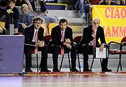 DESCRIZIONE : Roma Lega A 2013-14 Acea Virtus Roma - EA7 Emporio Milano<br /> GIOCATORE : Mario Fioretti Luca Banchi Massimo Cancellieri <br /> CATEGORIA : curiosita coach assistant coach <br /> SQUADRA : EA7 Emporio Milano<br /> EVENTO : Campionato Lega A 2013-2014 <br /> GARA : Acea Virtus Roma - EA7 Emporio Milano<br /> DATA : 02/12/2013<br /> SPORT : Pallacanestro <br /> AUTORE : Agenzia Ciamillo-Castoria/N. Dalla Mura<br /> Galleria : Lega Basket A 2013-2014  <br /> Fotonotizia : Roma Lega A 2013-14 Acea Virtus Roma - EA7 Emporio Milano