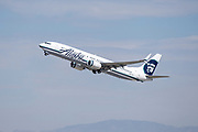 An Alaska Airlines Boeing 737-990ER takes off Los Angeles International Airport (LAX) on Friday, February 28, 2020 in Los Angeles. (Brandon Sloter/Image of Sport)