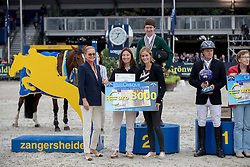 Pender Michael, IRL, Greve Willem, NED<br /> FEI World Breeding Jumping Championships for Young horses - Lanaken 2016<br /> © Hippo Foto - Dirk Caremans<br /> 18/09/16