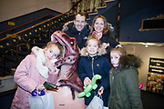 NO FEE PICTURES<br /> 17/12/17 Norma Sheehan and husband Scott Benwell and children Jessica 10 isabell 10 Jodie 7 pictured at the prehistoric preview and official opening of Dinosaurs Around The World now open at the the Ambassador Theatre  for a limited time only. Embark on a globetrotting expedition around the world to discover the Age of Reptiles! With advanced animatronics, a multi-layered narrative, fossils, authentic casts, cutting-edge research and immersive design elements you'll experience the Age of Reptiles as it comes to life!  Dinosaurs Around the World is open daily to the public from 10 a.m. with last entry at 6pm for a limited time only. Tickets available from Ticketmaster.ie and from the Ambassador Theatre Box Office now. Visit www.mcd.ie for more. Pictures: Arthur Carron