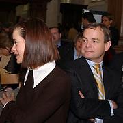 Mattheus Passion 2004 Naarden, Minister van Volksgezondheid, Welzijn en Sport Hans Hoogervorst en vrouw