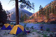 Camping, Middle Fork, Salmon River, Idaho<br />