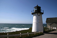 The Point Montara Lighthouse in Montara, California, is on the southern approach to the San Francisco Bay, approximately 25 miles south of San Francisco.   In 1925, the cast iron tower from the discontinued Mayo Beach Light was disassembled and moved to Yerba Buena. It was moved and rebuilt as the Point Montara Light Station in 1928, where it stands today