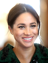 The Duchess of Sussex during a visit to Canada House in London for a Commonwealth Day youth event celebrating the diverse community of young Canadians living in London and around the UK.