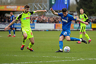 AFC Wimbledon midfielder Callum Reilly (33) about to shoot during the EFL Sky Bet League 1 match between AFC Wimbledon and Bolton Wanderers at the Cherry Red Records Stadium, Kingston, England on 7 March 2020.