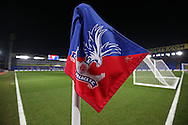 a view of a Corner flag. Emirates FA Cup 3rd round replay match, Crystal Palace v Bolton Wanderers at Selhurst Park in London on Tuesday 17th January 2017.<br /> pic by John Patrick Fletcher, Andrew Orchard sports photography.