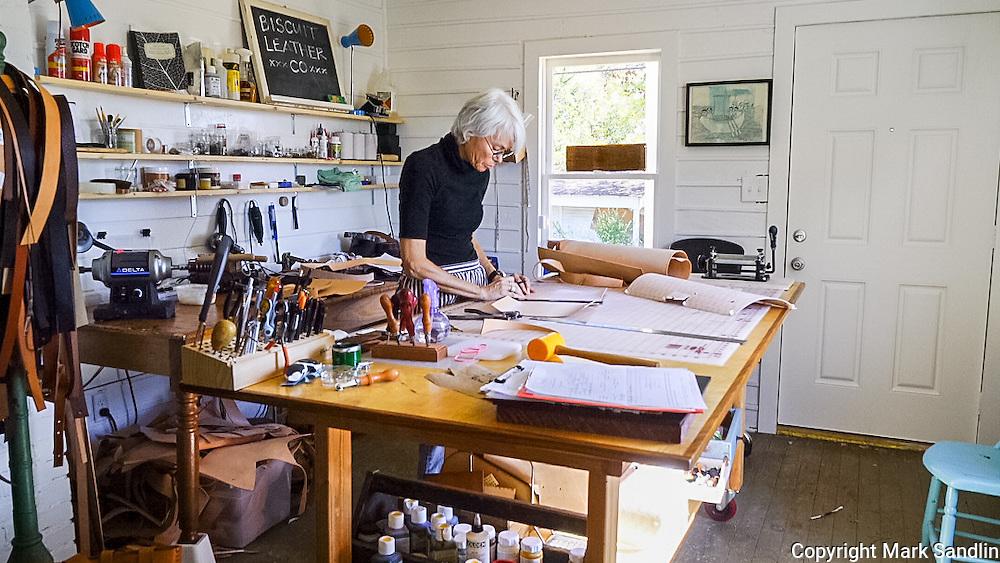 Alabama Makers, Becky Stayner, Homewood, Alabama, Biscuit Leather Company
