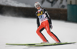 Simon Ammann (SUI) competes during Second round of the FIS Ski Jumping World Cup event of the 58th Four Hills ski jumping tournament, on January 6, 2010 in Bischofshofen, Austria. (Photo by Vid Ponikvar / Sportida)