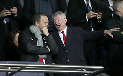 Manchester United executive vice-chairman Ed Woodward (left) and former manager Sir Alex Ferguson during the UEFA Champions League match at the Parc des Princes, Paris, France.