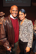 """October 20, 2012-New York, NY: (L-R)Actor/Social Activist Harry Belafonte and Martha Diaz, HipHop Scholar-in-Residence, The Schomburg Center at From Beat Street to These Streets: Hip Hop Then and Now panel discussion and special screening of """" Beat Street"""" co-hosted by the Schomburg Center, the Tribeca Youth Screening Series & Belafonte Enterprises and held at The Schomburg Center on October 20, 2012 in Harlem, New York City  (Terrence Jennings)"""