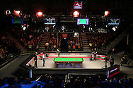 a General view of match. Ding Junhui (Chn) v Kyren Wilson (Eng),  1st round match at the Dafabet Masters Snooker 2017, day 1 at Alexandra Palace in London on Sunday 15th January 2017.<br /> pic by John Patrick Fletcher, Andrew Orchard sports photography.