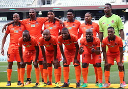 Polokwane City team shot vs Cape Town City in an MTN8 quarter-final match at the Cape Town Stadium on August 12, 2017 in Cape Town, South Africa.