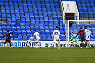 Bolton Wanderers forward Arthur Gnahoua shoots during the EFL Sky Bet League 2 match between Tranmere Rovers and Bolton Wanderers at Prenton Park, Birkenhead, England on 23 January 2021.