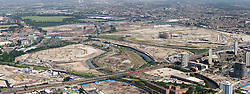Olympic Park Panoramic Aerial 2008. Picture by Anthony Charlton