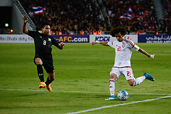 June 13, 2017 - Bangkok, Bangkok, Thailand - Thailand's Thitipan PUANGCHAN (L) in action against OMAR ABDULRAHMAN (R) of the UAE during the FIFA World Cup 2018 qualifying soccer match between Thailand and the United Arab Emirates at the Rajamangala stadium in Bangkok, Thailand, 13 June 2017. (Credit Image: © Anusak Laowilas/NurPhoto via ZUMA Press)