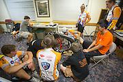 Het team onderzoekt de VeloX2 naar een mogelijke oorzaak van de val van Sebastiaan Bowier op de eerste wedstrijdavond van de World Human Powered Speed Challenge. In de buurt van Battle Mountain, Nevada, strijden van 10 tot en met 15 september 2012 verschillende teams om het wereldrecord fietsen tijdens de World Human Powered Speed Challenge. Het huidige record is 133 km/h.<br /> <br /> The technical team analyses the VeloX2 after the crash. Near Battle Mountain, Nevada, several teams are trying to set a new world record cycling at the World Human Powered Vehicle Speed Challenge from Sept. 10th till Sept. 15th. The current record is 133 km/h.