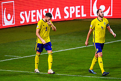 November 20, 2018 - Stockholm, SWEDEN - 181120 Marcus Berg of Sweden and Andreas Granqvist of Sweden celebrates after the 2-0 goal  during the Nations League football match between Sweden and Russia on November 20, 2018 in Stockholm  (Credit Image: © Simon HastegRd/Bildbyran via ZUMA Press)