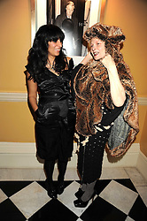 Left to right, SERENA REES and DAME VIVIENNE WESTWOOD at a party to celebrate the 10th Anniversary of Claridge's Bar, Claridge's Hotel, Brook Street, London on 11th November 2008.