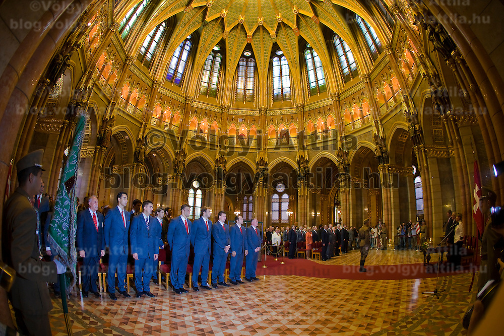 Official awarding ceremony to honor the members of the Hungarian Olympic Team and their coaches, held in the Parliament.