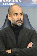 Josep Guardiola (Manager)(Manchester City) before during the Champions League match between Manchester City and Celtic at the Etihad Stadium, Manchester, England on 6 December 2016. Photo by Mark P Doherty.