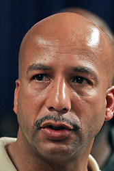 02 Sept 2008. New Orleans, Louisiana.<br /> After hurricane Gustav. Mayor Ray Nagin heads up city officials as he discusses the way forward for Orleans parish. Nagin advises that citizens can begin to return at 12.01am on Thursday Sept 4th.<br /> Photo; Charlie Varley/varleypix.com