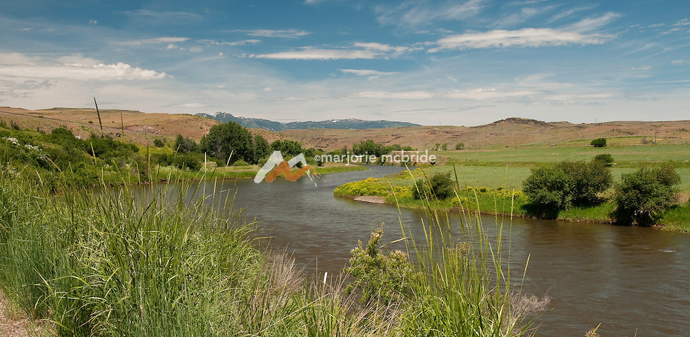 View along the 89 mile Weiser River Trail, Idaho.
