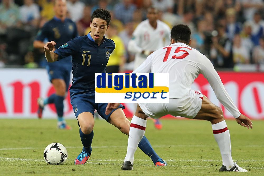 FOOTBALL - UEFA EURO 2012 - DONETSK - UKRAINE - GROUP STAGE - GROUP D - FRANCE v ENGLAND - 11/06/2012 - PHOTO PHILIPPE LAURENSON / DPPI - SAMIR NASRI (FRA)