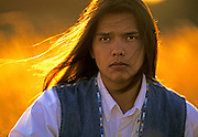 Image of a Native American from the Blackfeet Indian Reservation in Montana, Pacific Northwest, model released  Restrictions: Cannot be used for tobacco or alcohol use -  by Randy Wells