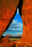 View of Monument Valley from Rock Door Mesa, Monument Valley, Utah/Arizona