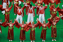 Cerimônia de abertura da Copa das Confederações, realizada no Estádio Nacional Mané Garrincha, em Brasília, antes da partida entre Brasil e Japão. FOTO: Jefferson Bernardes/Preview.com