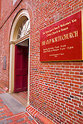 The Old North Church (Christ Church 1723 ) on the Freedom Trail, Boston, Massachusetts