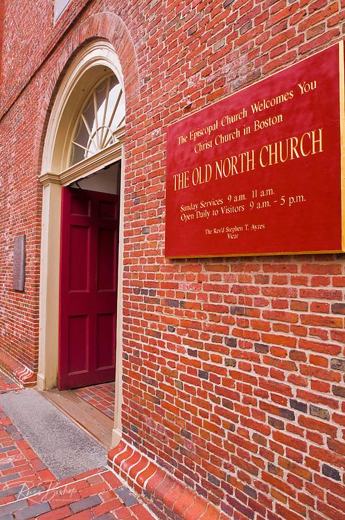 The Old North Church (Christ Church 1723 ) on the Freedom Trail, Boston, Massachusetts
