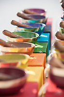 Sound Bowl Colorful sound bowls that carry the vibrational  frequencies of each chakra.