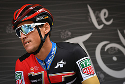 July 20, 2018 - Valence, FRANCE - Belgian Greg Van Avermaet of BMC Racing pictured at the start of the 13th stage in the 105th edition of the Tour de France cycling race, from Bourg d'Oisans to Valence (169,5 km), France, Friday 20 July 2018. This year's Tour de France takes place from July 7th to July 29th. BELGA PHOTO DAVID STOCKMAN (Credit Image: © David Stockman/Belga via ZUMA Press)
