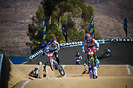 #6 (PAJON Mariana) COL and  #4 (MARTIN Arielle) USA battle it out at the 2013 UCI BMX Supercross World Cup in Chula Vista