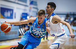 during basketball match between National teams of Greece and Slovenia in the Group Phase C of FIBA U18 European Championship 2019, on July 29, 2019 in  Nea Ionia Hall, Volos, Greece. Photo by Vid Ponikvar / Sportida