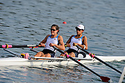 Shunyi, CHINA.  USA LW2X, (b) HYKEL Renee and<br /> GOLDSACK Jen, at the 2008 Olympic Regatta, Shunyi Rowing Course. Tuesday 12.08.2008  [Mandatory Credit: Peter SPURRIER, Intersport Images]