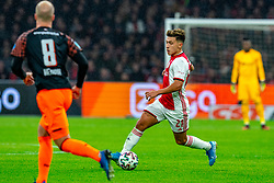 Lisandro Martinez #21 of Ajax in action during the match between Ajax and PSV at Johan Cruyff Arena on February 02, 2020 in Amsterdam, Netherlands